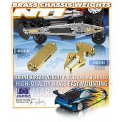 BRASS CHASSIS WEIGHT FRONT 25G