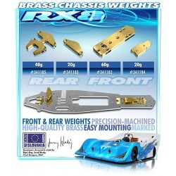 BRASS CHASSIS WEIGHT REAR 40g
