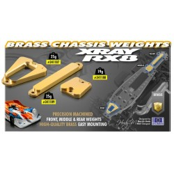 BRASS CHASSIS WEIGHT REAR 25g