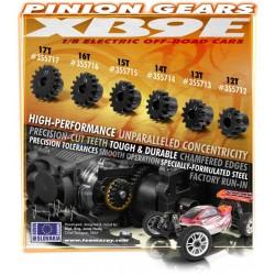"Schumacher Mini Pin 4WD Front Tires 2,2"" Hex Drive - Yellow - Preglued (2pcs)"