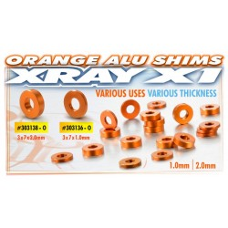 ALU SHIM 3x7x1.0MM - ORANGE...