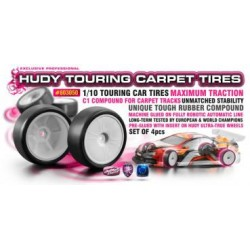 HUDY 1/10 TC TIRES C1-32 -...