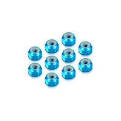 ALU NUT M4 - BLUE (10)