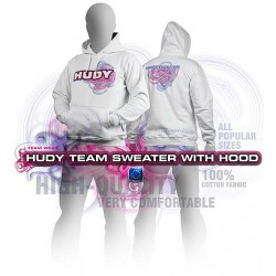 HUDY SWEATER HOODED - WHITE...
